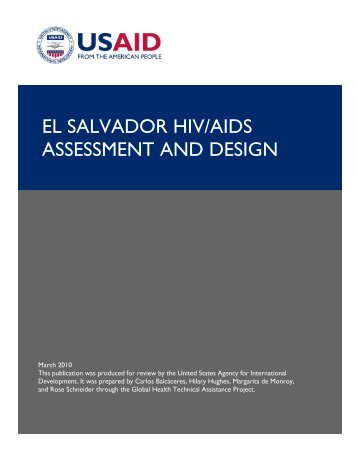 EL SALVADOR HIV/AIDS ASSESSMENT AND DESIGN