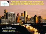 100Gigabit and Beyond: Increasing Capacity in IP/MPLS ... - RIPE 64