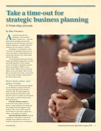 Take a time-out for strategic business planning