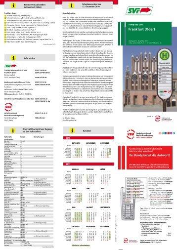 (Oder) Stadtverkehr Liniennetz - bei der Stadtverkehrsgesellschaft ...