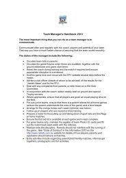Team Manager's Handbook 2013