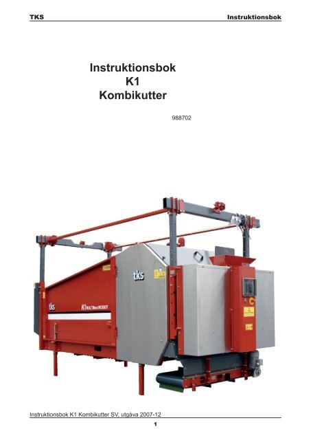 Instruktionsbok K1 Kombikutter - TKS AS