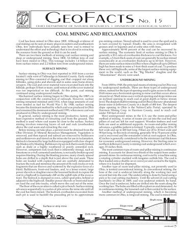Coal Mining and Reclamation - CET
