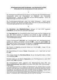 Kassenbericht des Schatzmeisters für das Jahr 2012 - und Asylrecht