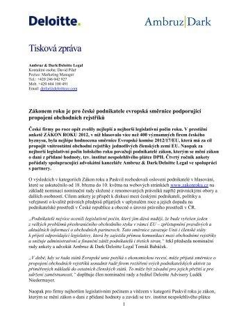 Tisková zpráva - Asociace malých a středních podniků a živnostníků ...