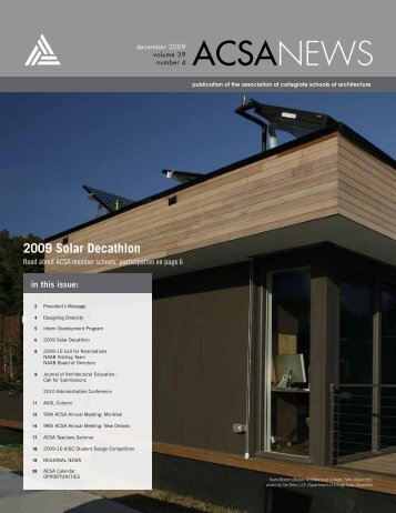 2009 Solar Decathlon - Association of Collegiate Schools of ...