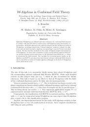 W-Algebras in Conformal Field Theory