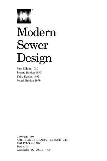 """Modern Sewer Design"" is the result of a - Jensen Bridge & Supply"