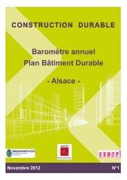 Baromètre annuel Plan Bâtiment Durable - Alsace -