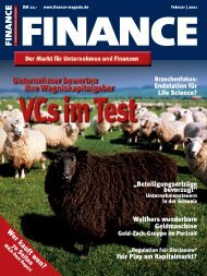 Finance - Feb. 2001 - Klein & Coll.