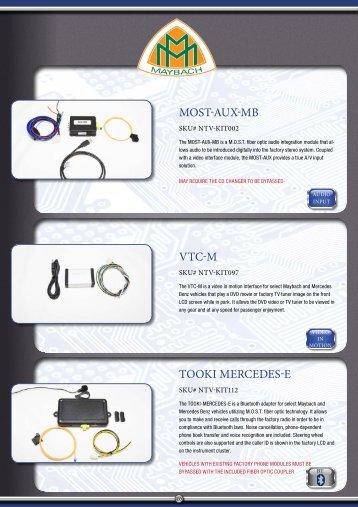 MOST-AUx-MB VTC-M TOOKI MeRCeDeS-e - Davicom Electronics