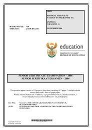 senior certificate examination