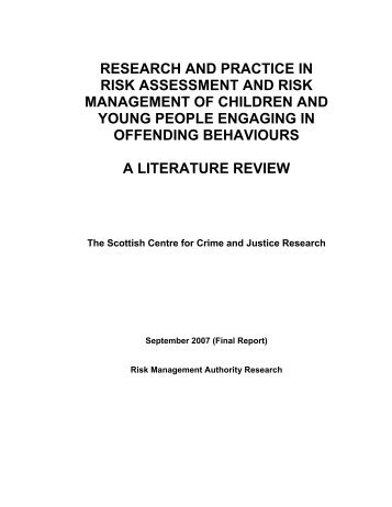 RESEARCH AND PRACTICE IN RISK ASSESSMENT AND ... - sccjr