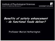 Marion Hetherington - Faculty of Health and Life Sciences