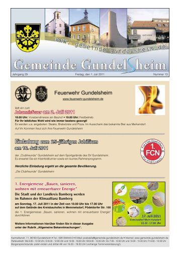 einladung zum 25-jährigen Jubiläum - Gemeinde Gundelsheim
