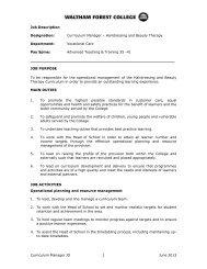 Curriculum Manager JD 1 June 2013 Job Description ... - FEjobs.com