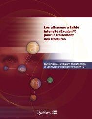 Les ultrasons à faibles intensité (ExogenTM) pour le ... - INESSS