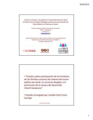 Hallazgos preliminares de estudio de - Chile Crece Contigo