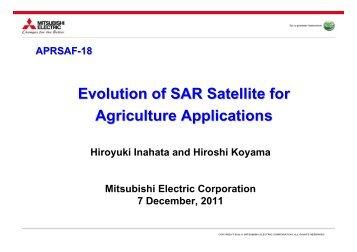 Evolution of SAR Satellite for Agriculture Applications - APRSAF