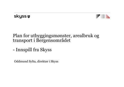 Innspill fra Skyss - Hordaland fylkeskommune