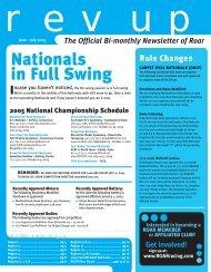 Nationals in Full Swing - ROAR