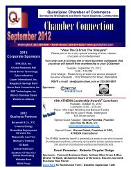 September 2012 Newsletter - The Quinnipiac Chamber of Commerce