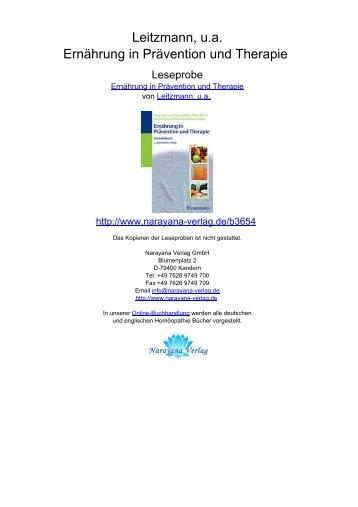 Leitzmann, u.a. Ernährung in Prävention und Therapie