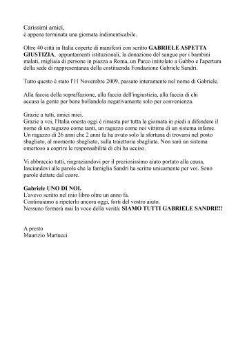 Manifesti per Gabriele