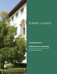 the position prospectus - Scripps College