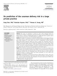 On prediction of the cesarean delivery risk in a large private practice