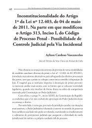 Inconstitucionalidade do Artigo 1º da Lei nº 12.403, de 04 de ... - Emerj