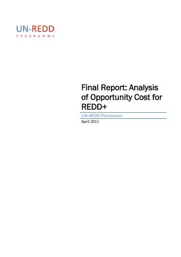 Final Report: Analysis of Opportunity Cost for ... - REDD - VietNam