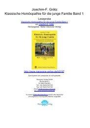 Joachim-F. Grätz Klassische Homöopathie für die junge Familie ...