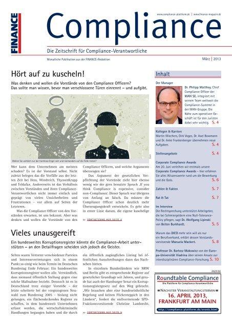 (PDF ) | Ausgabe März 2013 - Compliance