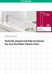 PuraVida kitchen mixers in focus - Hansgrohe