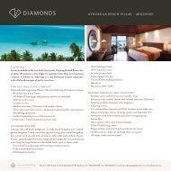 athuruga beach villas ~ maldives - Diamonds Athuruga Beach ...