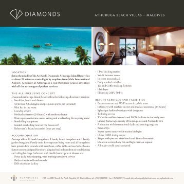 athuruga beach villas ~ maldives - Diamonds Athuruga Beach ...