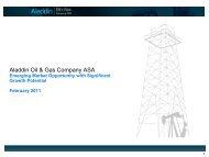 Aladdin Oil & Gas Company ASA