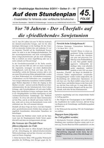 """Vor 70 Jahren - Der """"Überfall"""" auf die """"friedliebende"""" Sowjetunion"""
