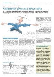 (6):Achillesfersen kennen und darauf achten - beim LCH