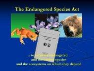 The Endangered Species Act & Section 7 - El Dorado County ...