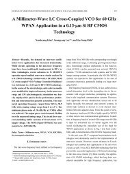 A Millimeter-Wave LC Cross-Coupled VCO for 60 GHz ... - JSTS