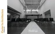 wedding photos - Center for Architecture