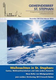 Dezember 2012 - Februar 2013 - St. Stephan