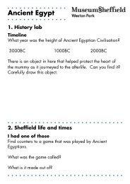 Ancient Egypt TEACHER TRAIL INFO NEW - Museums Sheffield