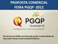proposta comercial feira pgqp -2012 - Movimento Brasil Competitivo