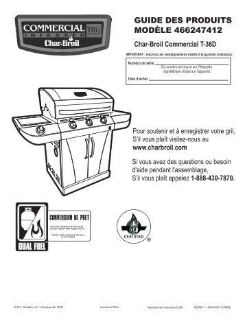 GUIDE DES PRODUITS MODÈLE 466247412 - Char-Broil Grills
