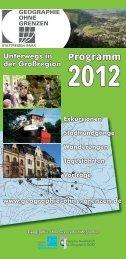 Programm 2012 Unterwegs in der Großregion - Geographie ohne ...