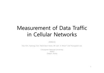 Measurement of data traffic in cellular networks - Caida