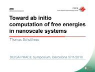 Ab initio Calculation of Free Energies in Nanoscale Systems - prace